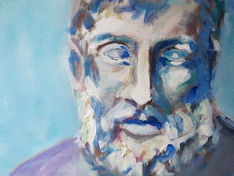 Zeus, Acryl auf Leinwand, 30x30 cm, 2014