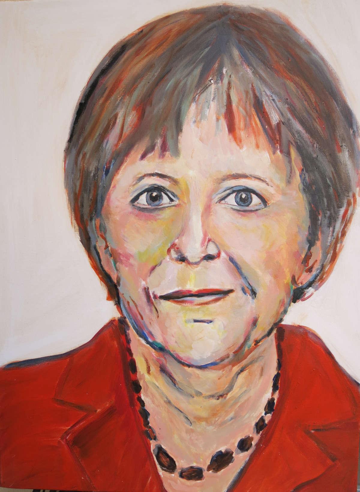Angela Merkel, Acryl auf Leinwand, 80x60cm, 2016
