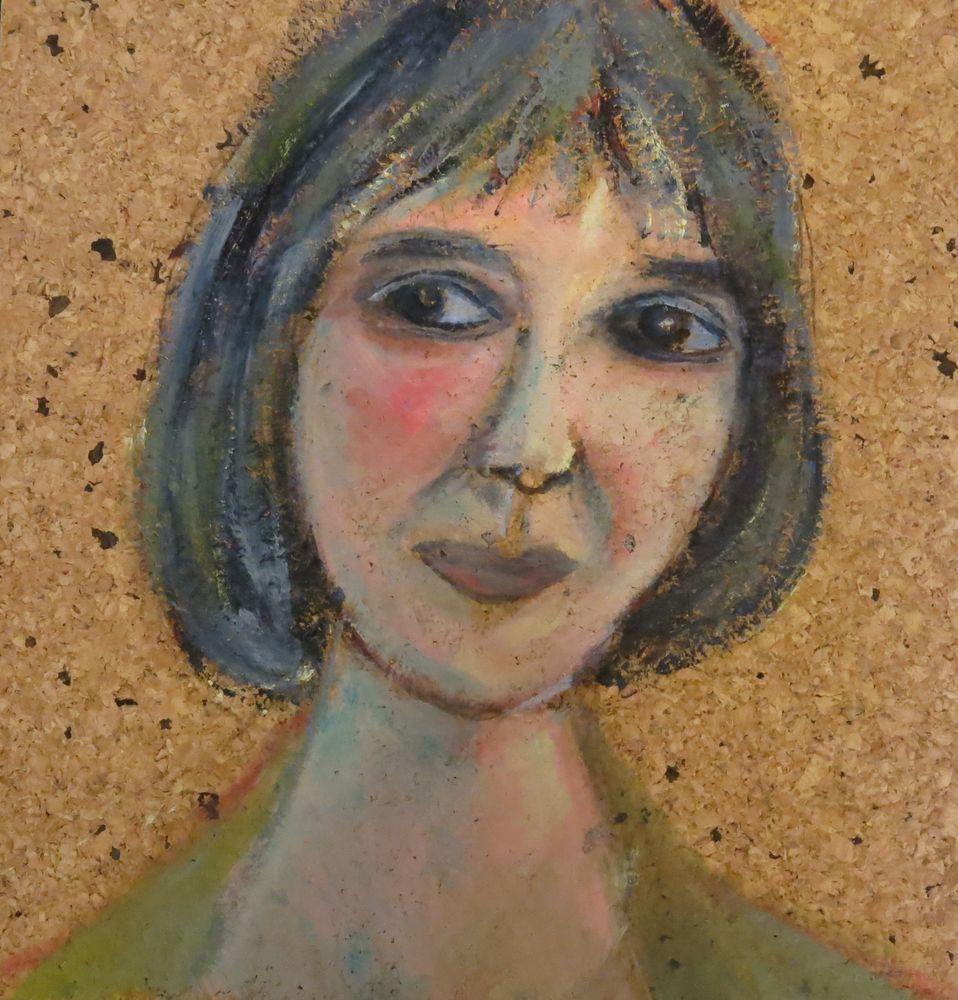 Angela, Acryl auf Kork, 40x30 cm, 2013
