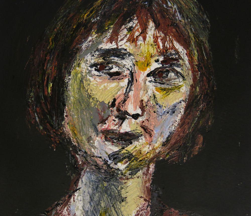 Angela, Unbekannte, Mischtechnik auf Karton, 50x30 cm, 2014
