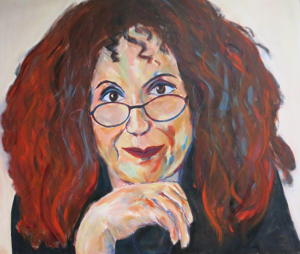 Anita Roddick, Acryl auf Leinwand, 140x170 cm, 2015