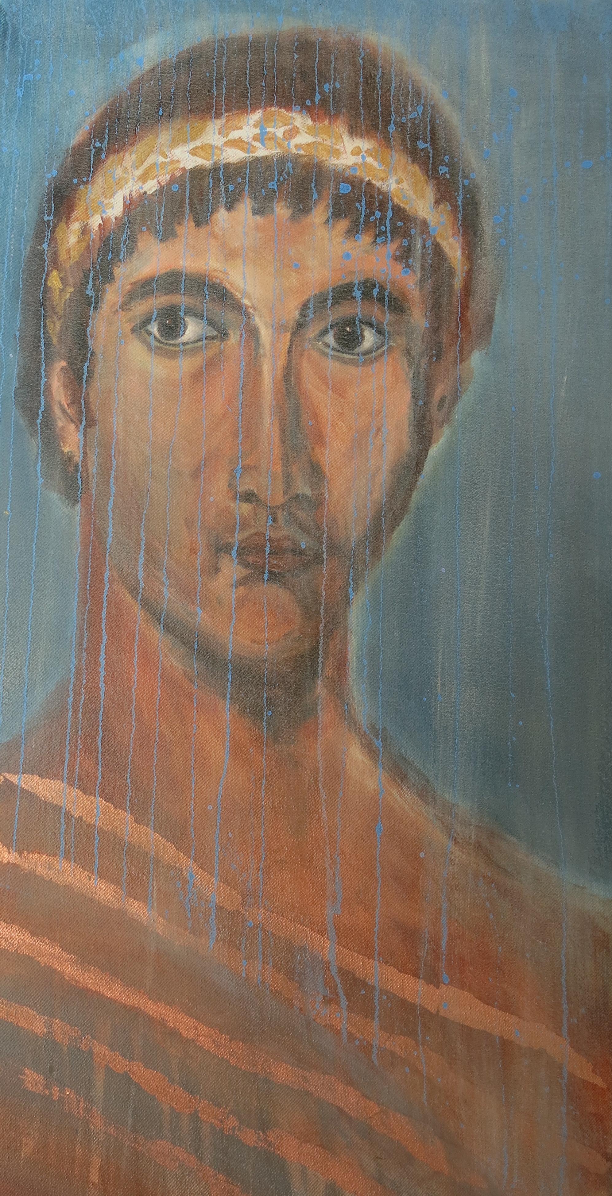 Römer, Acryl auf Kork, 40x30 cm, 2013