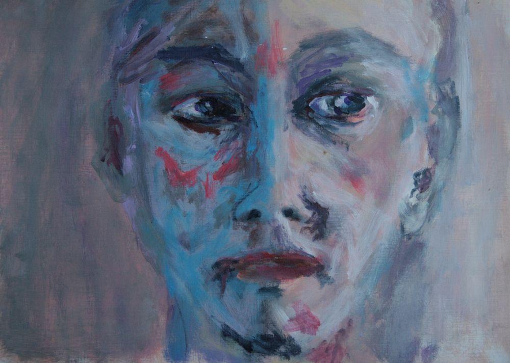 Unbekannter, Acryl auf Papier, 40x30cm, 2013