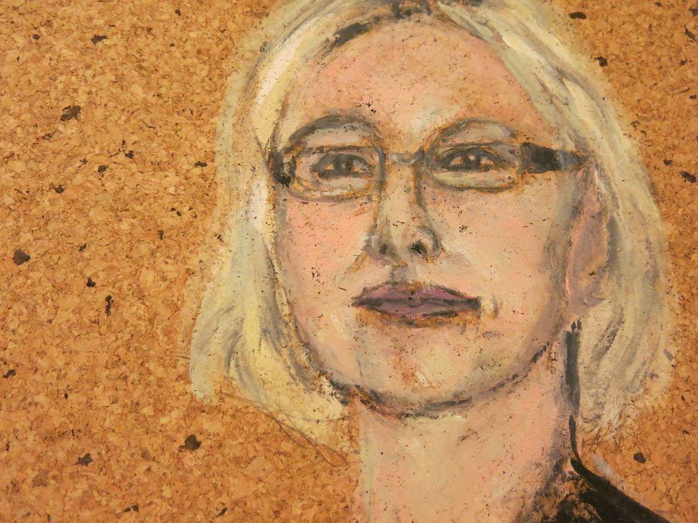 Christiane, Acryl auf Kork, 40x30 cm, 2013