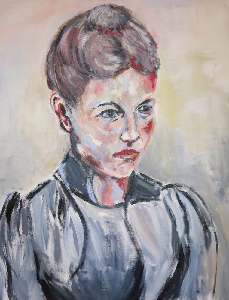 Clara Immerwahr, Acryl auf Leinwand, 120x100cm, 2015