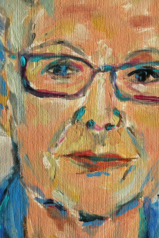 Ellen II, Acryl auf Karton, 40x30 cm, 2015