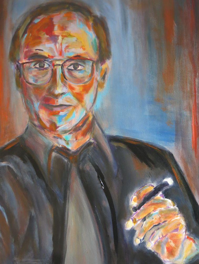 Peters Papa, Acryl auf Leinwand, 80x60cm, 2015