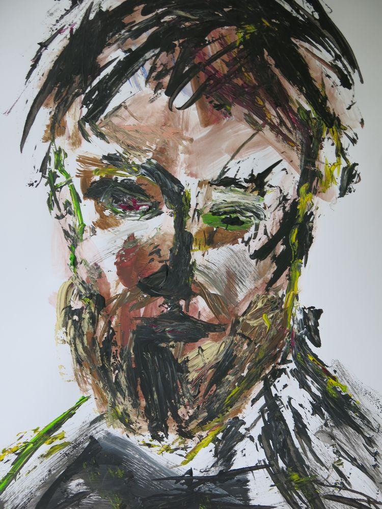 Joachim, Mischtechnik auf Karton, 50x30 cm, 2014