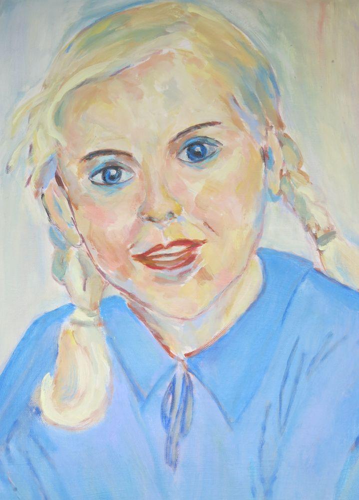 Karin Mädchenbild, Acryl auf Leinwand, 70x50cm, 2015