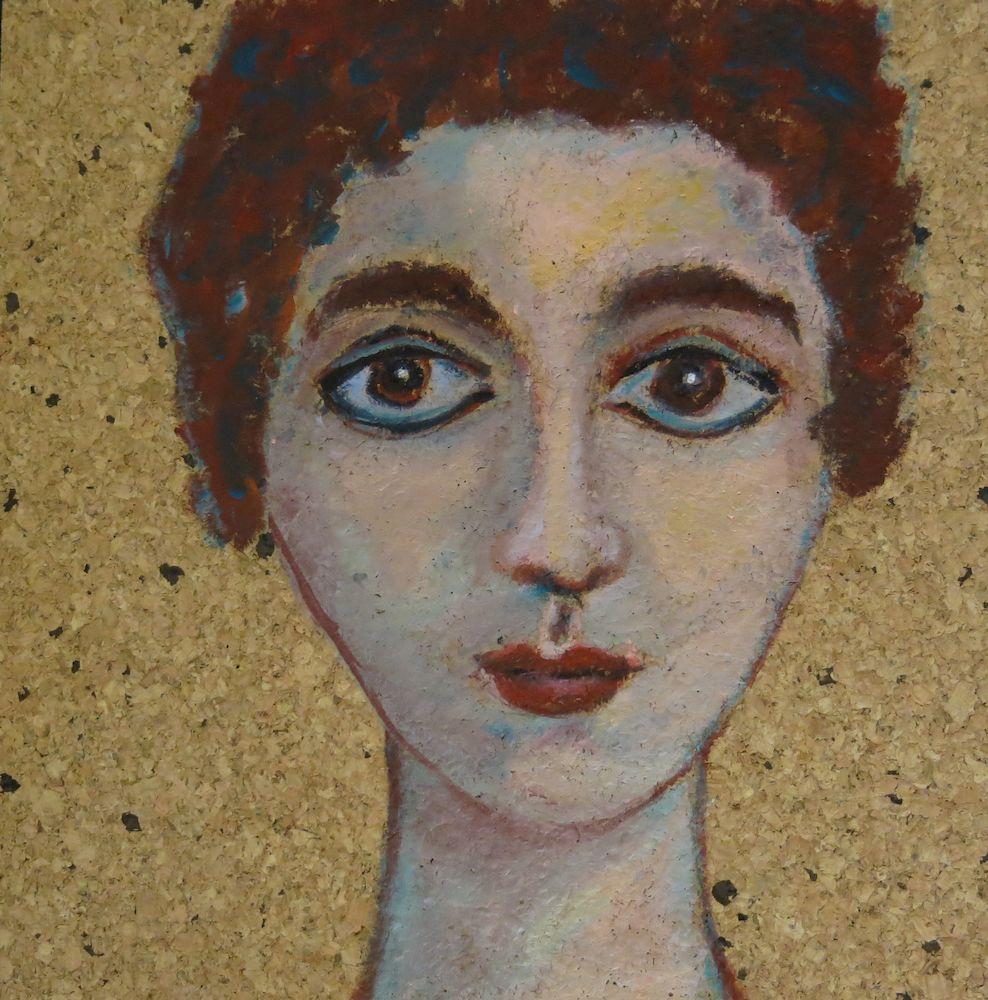 Alina, Acryl auf Kork, 30x30 cm, 2013 (2)