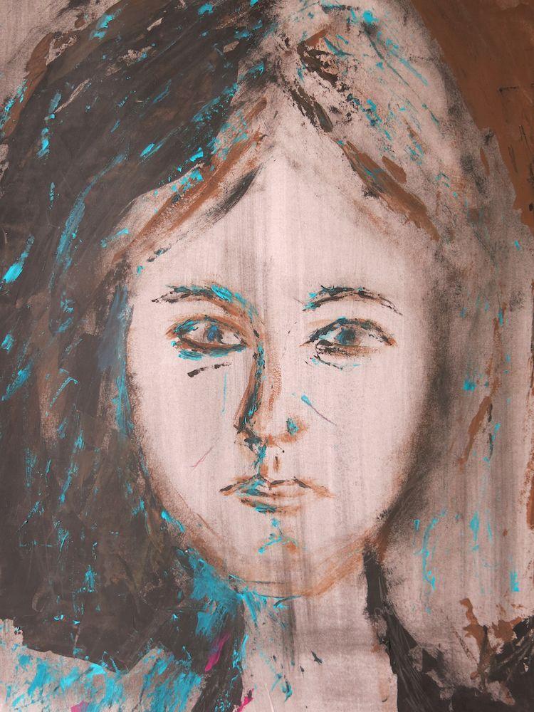 Mariola IV, Acryl auf Papier, 40x30cm, 2013