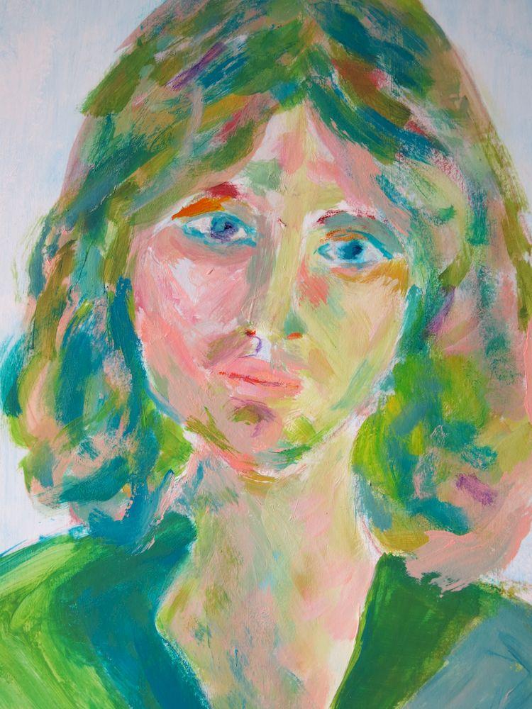 Mariola III, Acryl auf Papier, 40x30cm, 2013