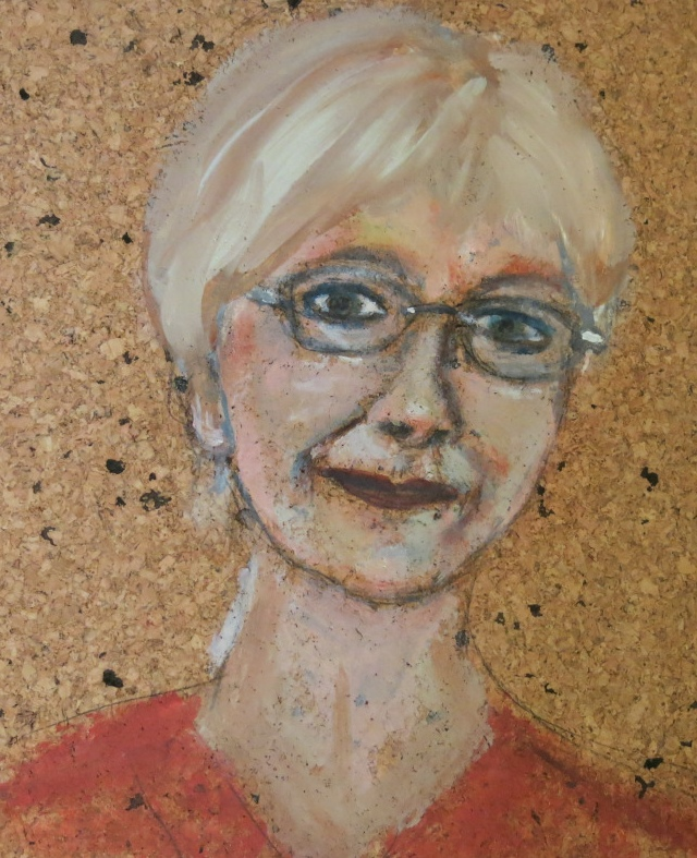 Margot, Acryl auf Kork, 30x30 cm, 2013