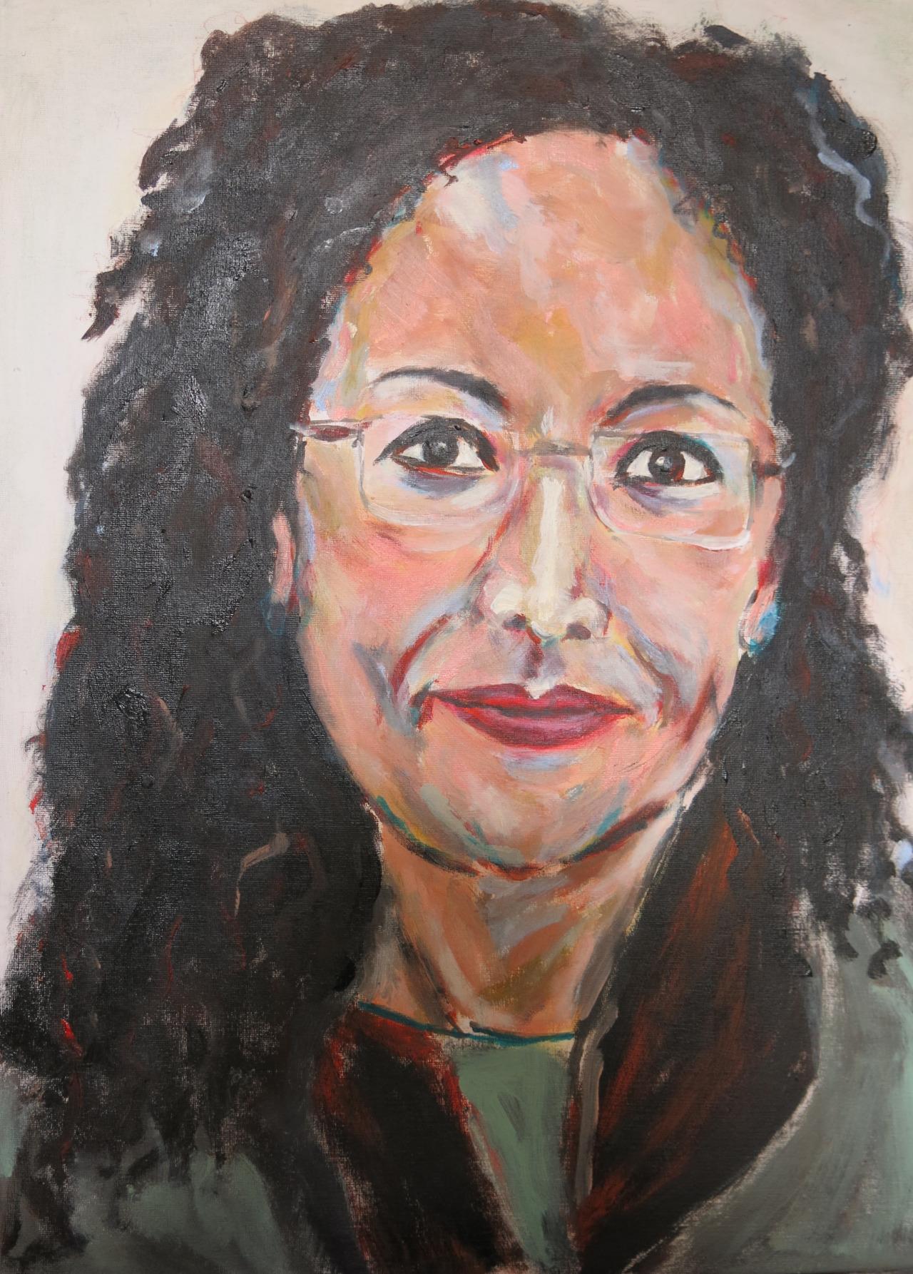 Funzja, Acryl auf Karton, 70x50 cm, 2016