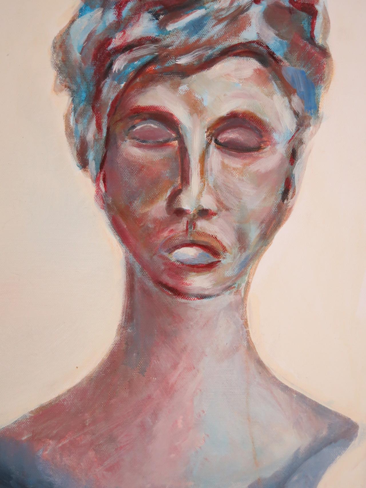 blaue Schönheit, Acryl auf Leinwand, 70x50 cm, 2014