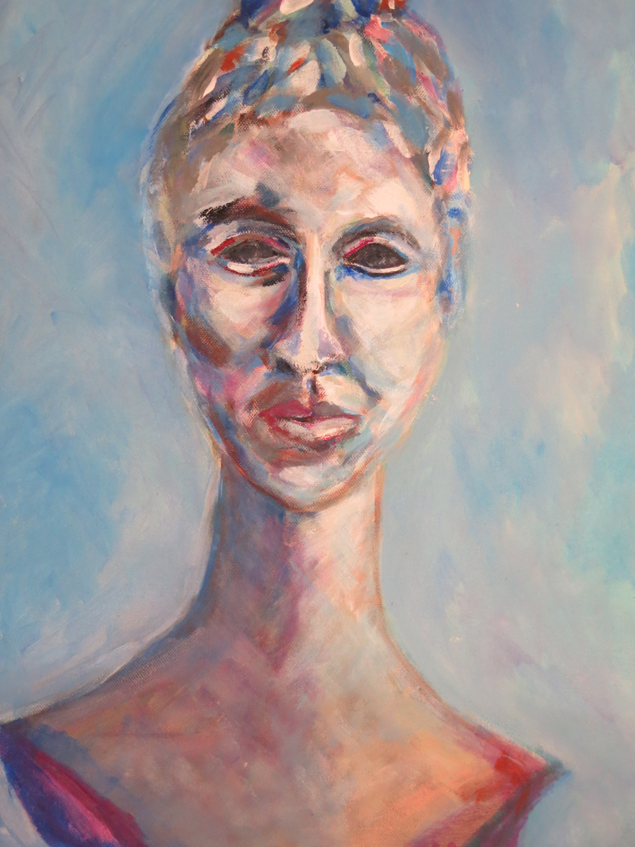 blaue Dame, Acryl auf Leinwand, 50x30 cm, 2014