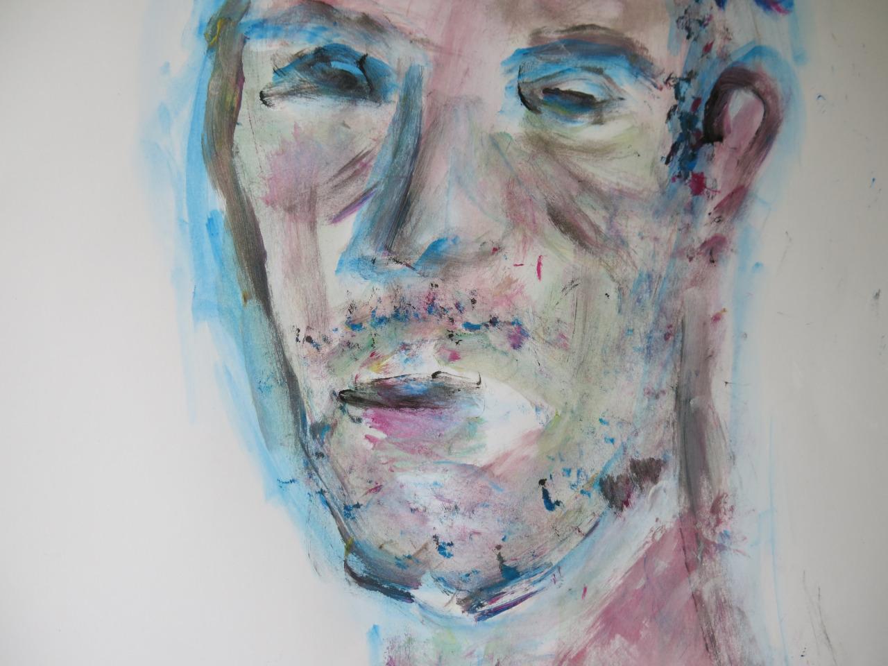 Urlich, Acryl auf Papier, 40x30 cm, 2013