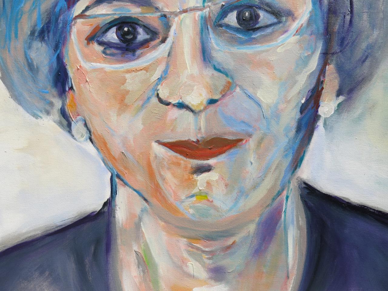 Eugenie III, Acryl auf Leinwand, 80x60 cm, 2014