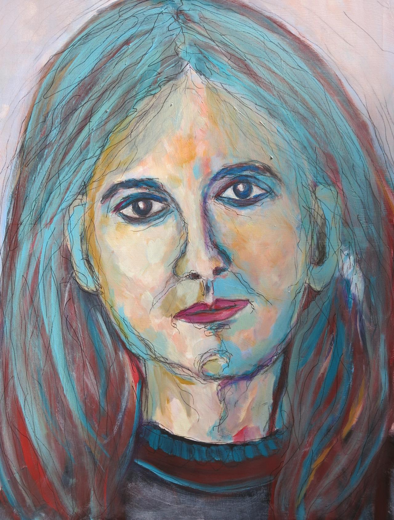 Mariola V, Mischtechnik auf Leinwand, 70x50 cm, 2014