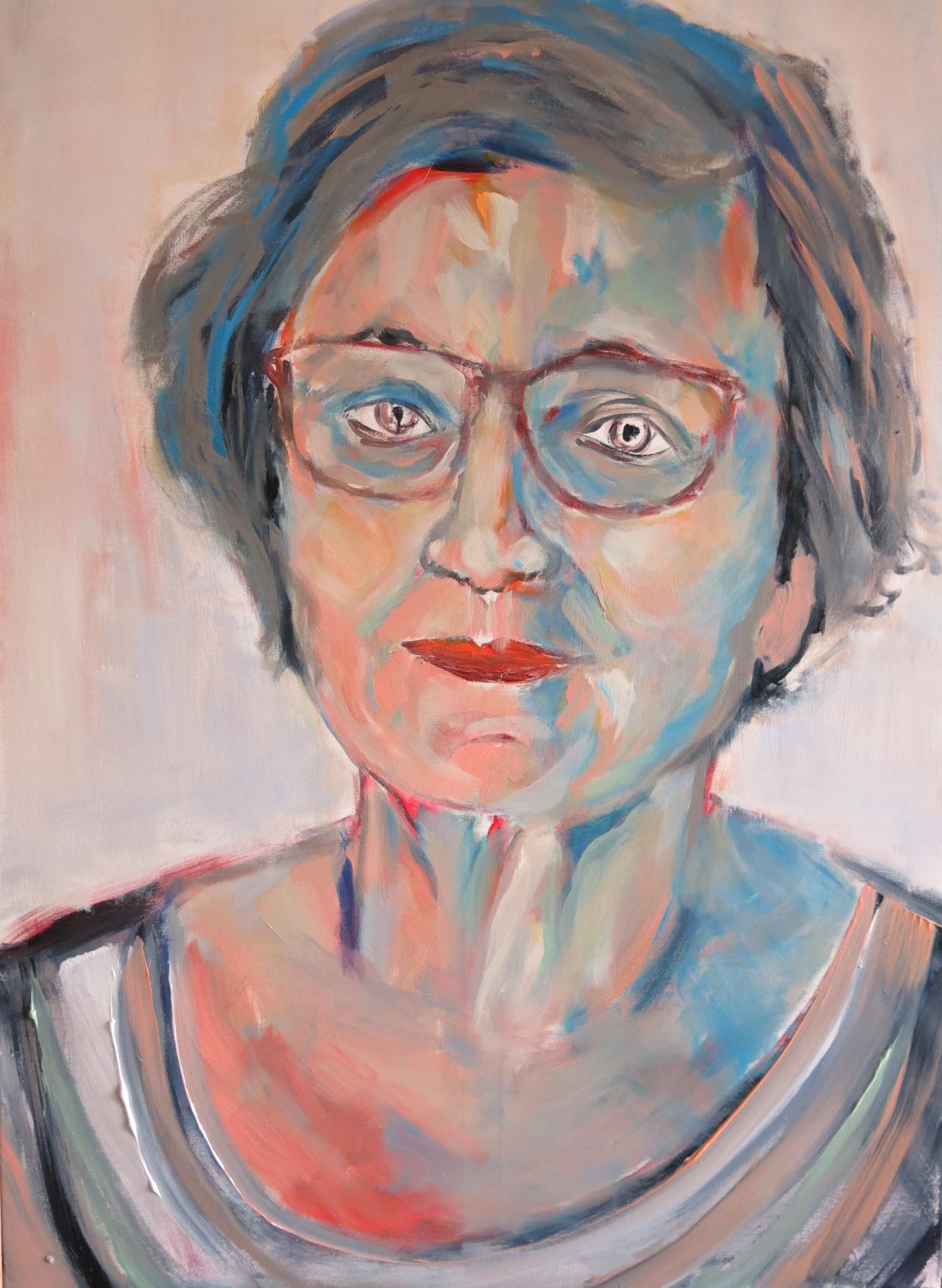 Eugenie II, Acryl auf Leinwand, 80x60 cm, 2014