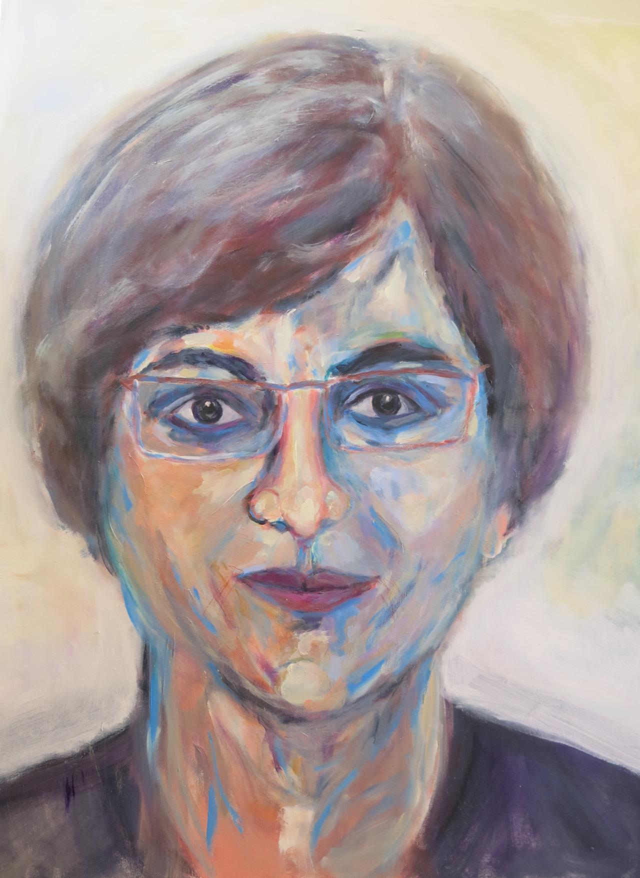 Eugenie, Acryl auf Leinwand, 120x100 cm, 2014