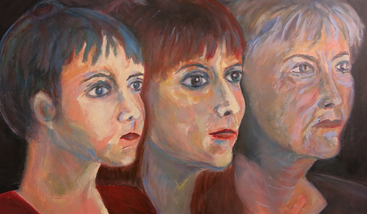 Drei Generationen, Acryl auf Leinwand, 90x180cm, 2015