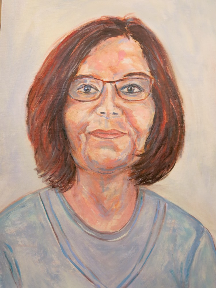 Johanna Welssels, Acryl auf Leinwand, 80x60cm, 2017